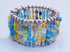 Safety Pin Bracelet - Sunny Skies