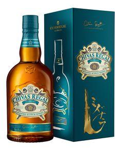 Up to off Chivas Regal Whiskies Scotch Whisky, Bourbon Whiskey, Irish Whiskey, Wine Design, Bottle Design, Liquor Bottles, Drink Bottles, Whisky Chivas Regal, Alcohol Spirits