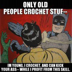 Some people just don't get it... KNITTING is for old people!!! Jk jk  but seriously we can make good money if we're experienced enough.  #crochels #crochet #crocheting #etsyusa #etsyprepromo #etsyfinds #etsyshopowner #etsyseller #etsystore #crochetseller #crochetblog #kawaiicrochet #crochetersofinstagram #supporthandmade #geekycrochet #handmade #handmadecrochet #amazonhandcrafted #handmadeatamazon #crochethumour #crochethumor #knittinghumor #crochetmeme #crochetlife #crochetaddict…
