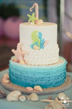 ombre birthday cake under the sea - Google Search