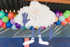 Cloud Guy decoration from a Trolls Birthday Party on Kara's Party Ideas | KarasPartyIdeas.com (17)
