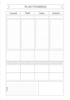 DIY Planer - organizer do wydrukowania Daily Planner Printable, Planner Pages, Diy And Crafts, Crafts For Kids, Bujo, Back To School, Fun Facts, Bullet Journal, Writing