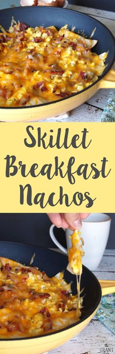 Skillet breakfast nachos! Make this easy recipe and watch it disappear http://thegrantlife.com/skillet-breakfast-nachos/