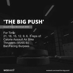 Assault Bike Workout, Crossfit Workouts At Home, Push Workout, Cardio, Hiit, I Work Out, Workout Programs, Planer, Girl Motorcycle
