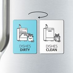 DISHWASHER MAGNET - clean dirty dishwasher magnet - clean or dirty, magnets, clean dirty dishwasher magnet, clean dishes, dirty dishes by ReminderMagnet on Etsy https://www.etsy.com/listing/279295066/dishwasher-magnet-clean-dirty-dishwasher