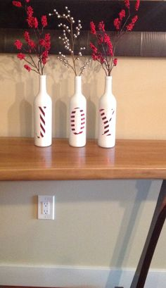 Joy decorative Christmas bottles Beautiful by SEVENTHandJ on Etsy