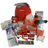 This is a full 2 person survival kit using FEMA and Red Cross guidelines with the backpack opened to Lighting and Communication. All the food and water supplies last for 5 years..http://thesurvivalevent.com