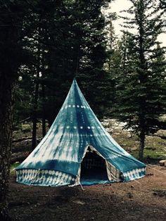 Indigo Tent | @andwhatelse