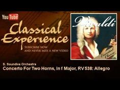 Antonio Vivaldi: Concerto for Two Horns in F major, RV 538.  Played by Kevin Reid and Robert Rearden with the EMF Festival Orchestra at the Eastern Music Festival, Greensboro, July 16, 2014.