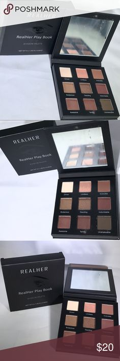 New RealHer Beauty Play Book Shadow Palette Brand new in box, never used! RealHer Beauty RealHer Play Book Shadow Palette Full Size: 9 Richly Pigmented Matte + Metallic Hues for all Eye Colors & skin tones Long-wearing, Crease-resistant, Fade-resistant, Buildable colors Palette comes with built in mirror  -- From smoke free home Bundle to save more! Offers ok:) -- #realher #realherbeauty #sephora #ulta #makeup #beauty #palette #eyeshadows  #iso #new #eyeshadowpalette #newwithtags…