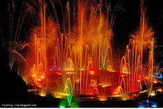 This fascinating web of water at JP Park is musical and beautiful. Definitely a stress buster!