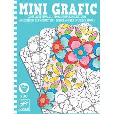 Floral Colouring Pictures Mini Grafic by Djeco Cheap Toys, Star Chart, Travel Toys, All Toys, Toys Online, Motif Floral, Small Art, Baby Kind, Minion