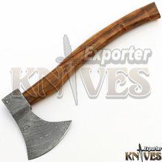 KNIVES EXPORTER New Tomahawk Viking Bearded Wooden Handle Damascus Steel Axe #KNIVESEXPORTER