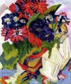 Flower Pot and Sugar Bowl - Ernst Ludwig Kirchner - The Athenaeum