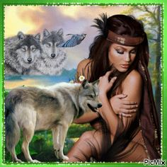 Eagle and Wolf Native American Spirits - Bing images Native American Wolf, Native American Pictures, Native American Wisdom, Indian Pictures, Wolf Pictures, American Indian Art, American Indians, Indian Wolf, Native Indian