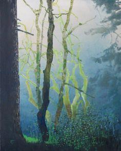 Painter's Process - Randall David Tipton  Rainforest Equinox oil on canvas 20x16