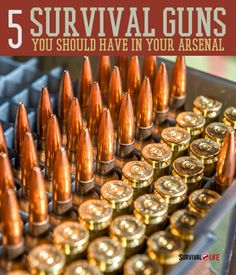 Looking for the best survival guns? This list of the top 5 survival guns by gun expert Jack Graff should be in your arsenal for emergency preparedness. Survival Weapons, Apocalypse Survival, Survival Mode, Survival Tools, Camping Survival, Outdoor Survival, Survival Prepping, Emergency Preparedness, Survival Stuff