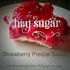 Strawberry Pretzel Salad Stickers & Glitter: Recipes