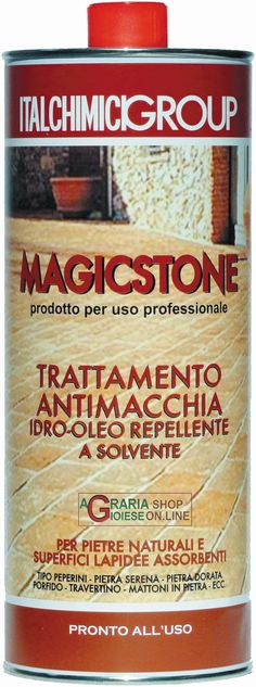 Magicstone trttamento antimacchia idro-oleo repellente per pietre naturali e superfici lapidee assorbenti lt. 1 http://www.decariashop.it/prodotti-per-vernici/20517-magicstone-trttamento-antimacchia-idro-oleo-repellente-per-pietre-naturali-e-superfici-lapidee-assorbenti-lt-1.html