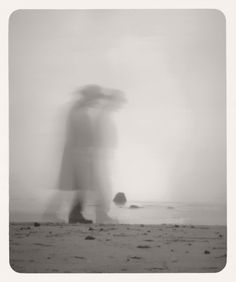 "Martha Casanave took her 4x5 #pinhole camera to the beach to depict California's central coast as an ""imaginary coastline."" A mysterious figure in 19th century attire appears in many of the images. Find out more about her work after the jump or at http://www.marthacasanave.com Feel inspired to submit your own pictures to  the #obscura book project? Visit us at http://www.obscura-book.com"