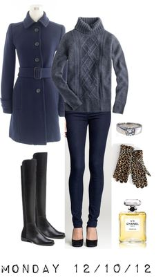"""""""OOTD 12/10/12"""" by jcrewcrazy ❤ liked on Polyvore"""