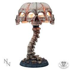 Lampa stojąca - Atrocity - abażur z czaszek