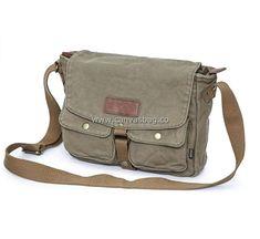 Canvas Crossbody Bag, Canvas Messenger Bag, Side Bags, Cotton Canvas, Leather Bag, Satchel, Army Style, Shoulder Bag, Character Design