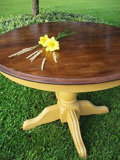 Might be redoing our dining table in this combo. Slightly brighter yellow