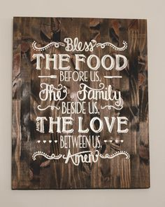 Bless the food before us the family beside by RaeLeeGraceDesigns