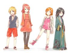 RWBY - little team JNPR -- oh god they're adorable Team Jnpr, Team Rwby, Rwby Anime, Rwby Fanart, Rooster Teeth, Pyrrha Nikos, Red Like Roses, Rwby Characters, Rwby Ships