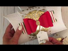 Gift Card Holder Two Ways-Tutorial With Brenda Walton Sizzix French Bow - YouTube