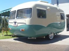 Painting the sunliner.   Vintage Caravans                                                                                                                                                                                 More