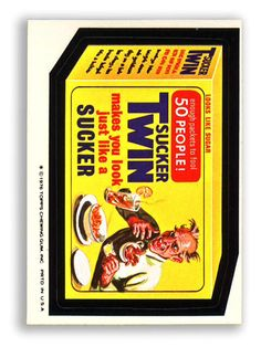 Topps Wacky Packages  16th Series 1976/7 SUCKER TWIN