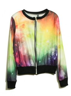 Star Printed Zipper Jacket $41.00