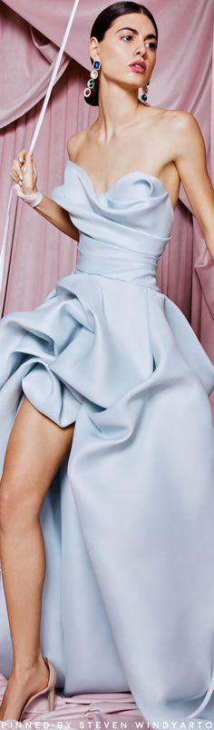 Halston Heritage - Cold-shoulder Crepe Gown - Light blue - US Blue Fashion, Fashion 2020, Autumn Fashion, Alexander Mcqueen Ring, Stuart Weitzman Sandals, Blue Gown, Glamour, Lookbook, Halston Heritage