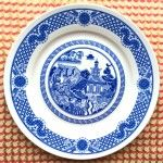Calamityware: Disastrous Scenarios on Traditional Blue Porcelain Dinner Plates
