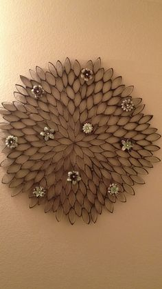 Paper Towel Roll Art | More success with paper towel roll art in my hall bath ... | For the ...