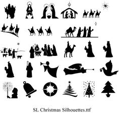 """SL Christmas Silhouettes.ttf<br /><br /> <br /><br /> (<a href=""""http://www.DingbatDepot.com/category/Religious"""" target=""""_blank"""">http://www.DingbatDepot.com/category/Religious</a>)<br /><br /> <br /><br /> These are Christmas Dingbats.  I have made a LO depicting what each letter of the alphabet stands for so I won't be guessing when I use them in a Christmas LO.<br /><br /> <br /><br /> Thought you ladies might like them too.<br /><br /> <br /><br /> Thank-you for the tip... more searching…"""