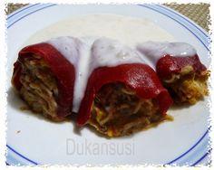 Recetas Dukan - Dukansusi: Pimientos rellenos de tortilla de mar