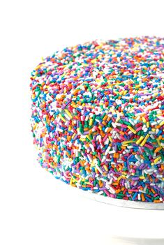Funfetti Vanilla Layer Cake   via sweetestmenu.com