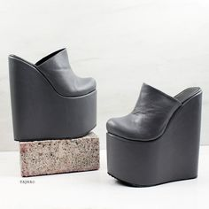 Who exactly doesn't like lovely wedges?, see our great selection of zip-back and buckle wedges for any situation! Wedge Mules, Wedge Sandals, Sandal Wedges, Platform High Heels, Sexy High Heels, Puma Platform, Platform Sneakers, Clogs Shoes, Mules Shoes