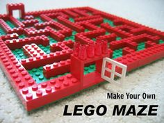 CONTROLLING Craziness: Lego Maze - This would be a really Cool game setup at a party. Having the girls race against the boys in a Lego Maze Race. Lego Duplo, Lego Toys, Lego Club, Lego Maze, Lego Challenge, Challenge Ideas, Lego Activities, Indoor Activities, Family Activities