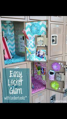 Easy Locker Decor for girls!!