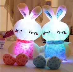 14.85$  Buy now - http://ali4ab.shopchina.info/go.php?t=32505129722 - 70CM lovely pink rabit plush toys for children boy and girls night luminous plush toy in Christmas gift and birthday to kids 14.85$ #buyonline