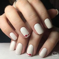 nail art designs for spring ; nail art designs for winter ; nail art designs with glitter ; nail art designs with rhinestones Simple Acrylic Nails, Acrylic Nail Art, Easy Nail Art, Acrylic Nail Designs, Cute Nail Designs, Simple Nails, Simple Nail Arts, Heart Nail Designs, Simple Nail Art Designs