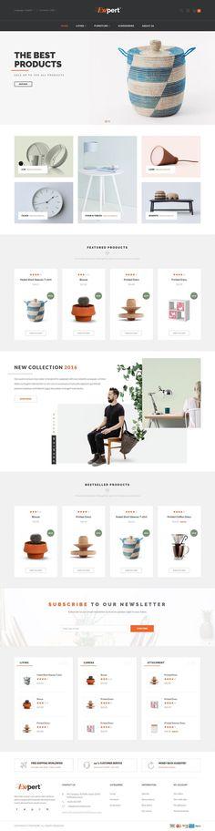 Simple, clean ecommerce web design.