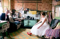 Grandma's House - A Real DIY Wedding at Home by Couple Photography Irish Wedding, Home Wedding, Diy Wedding, Wedding Day, Vintage Couples, Romantic Photos, Marquee Wedding, Industrial Wedding, Alternative Wedding