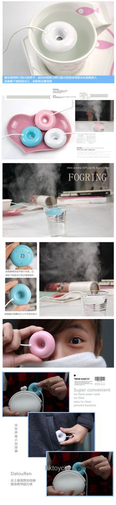 Creative donut shaped usb humidifier