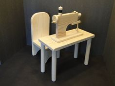 Sewing Machine with Table for 18 inch Dolls 0134 by ToysByJohn