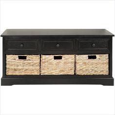 Safavieh Bud 3 Drawer Storage Unit in Black - AMH5701B - Lowest price online on all Safavieh Bud 3 Drawer Storage Unit in Black - AMH5701B